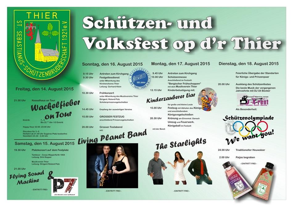 Schützen- und Volksfest op d'r Thier 2015
