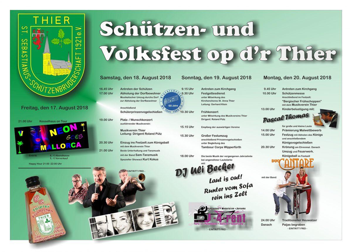 Plakat Schützenfest 2018